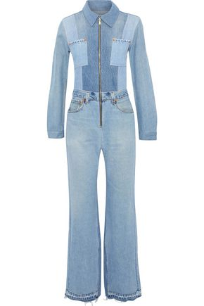 RE/DONE by LEVI'S Frayed denim jumpsuit