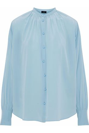 JOSEPH Everett gathered silk crepe de chine blouse
