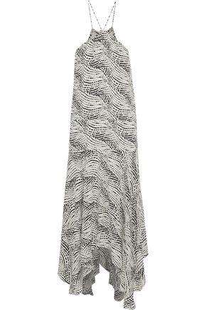 VIX PAULA HERMANNY Esther asymmetric printed gauze midi dress
