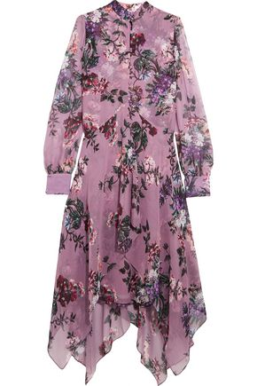 ERDEM Floral-print silk-chiffon midi dress
