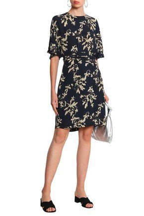 d30f175d St. Pierre gathered floral-print crepe dress   GANNI   Sale up to 70 ...