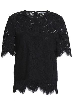 GANNI Scalloped lace top