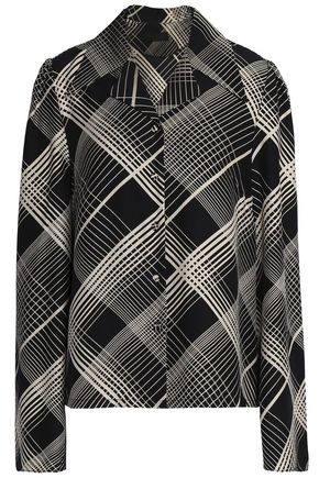 CO Printed silk shirt