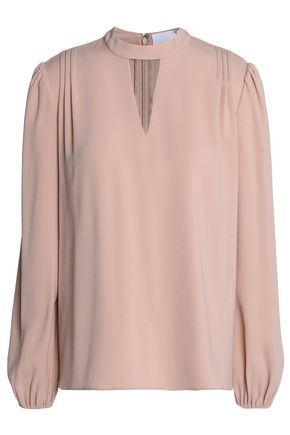 CO Cutout satin-crepe top