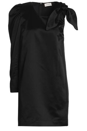 ISA ARFEN Knotted satin mini dress