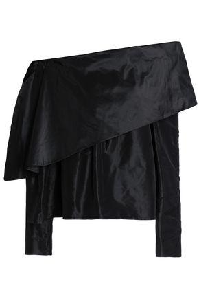 ISA ARFEN Off-the-shoulder silk-taffeta top