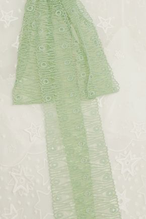 CHLOÉ Pussy-bow embroidered chiffon maxi dress
