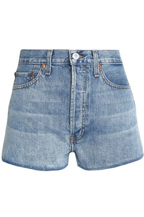 RE/DONE by LEVI'S Faded denim shorts