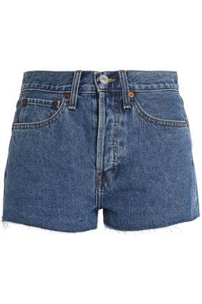 RE/DONE by LEVI'S Frayed denim shorts