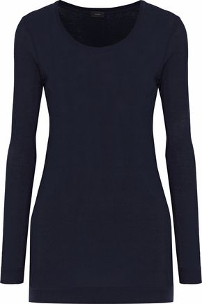 JOSEPH Ribbed cotton-jersey top
