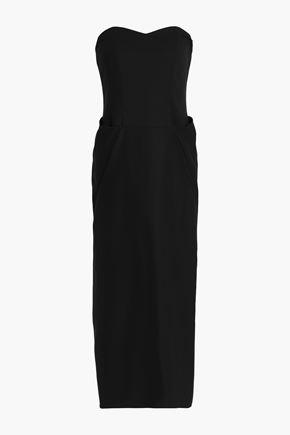 CO Strapless cotton midi dress