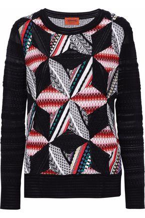 MISSONI Patchwork-effect crochet-knit sweater