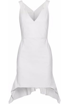 ANTONIO BERARDI Asymmetric stretch-cotton mini dress