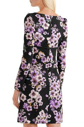 GIAMBATTISTA VALLI Lace-trimmed floral-print silk mini dress