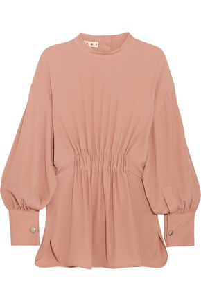 MARNI Gathered crepe de chine blouse