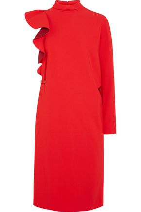 GIVENCHY Ruffled one-sleeve crepe dress