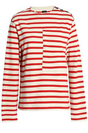 JOSEPH Striped cotton-jersey top