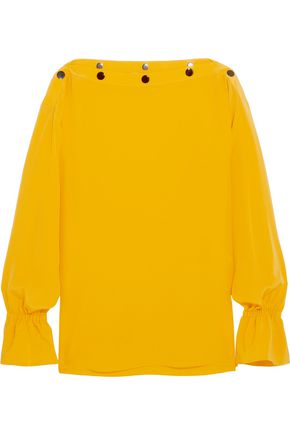 EMILIO PUCCI Studded silk crepe de chine blouse