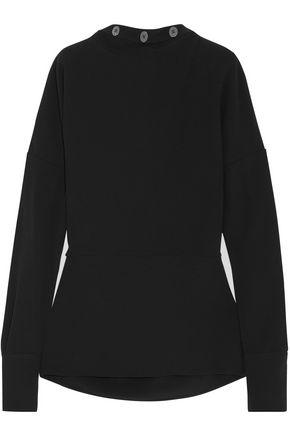 VICTORIA BECKHAM Button-detailed crepe blouse