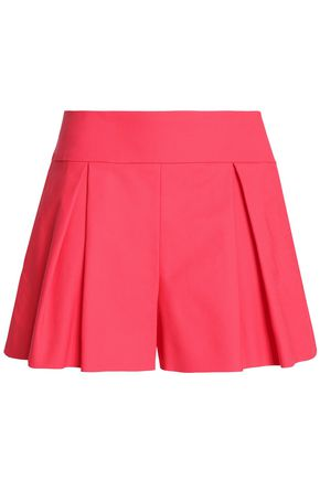 REDValentino Pleated cotton-blend cady shorts
