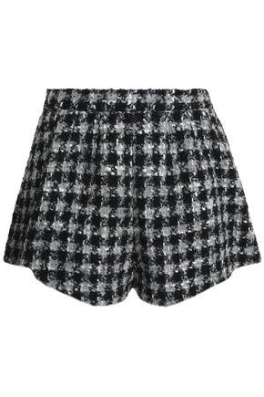 REDValentino Houndstooth bouclé shorts