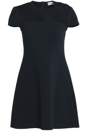 REDValentino Point d'esprit-paneled stretch-jersey mini dress