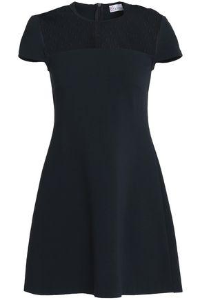 REDValentino Point d'esprit-paneled stretch-jersey mini dress
