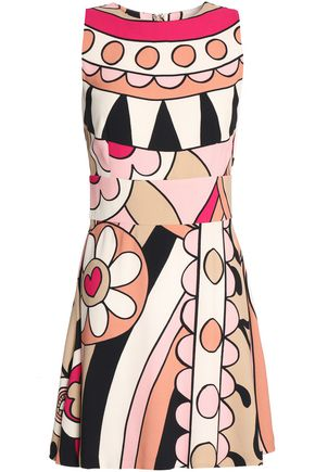 REDValentino Printed crepe mini dress