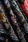 ERDEM Reza patchwork-effect printed velvet maxi dress