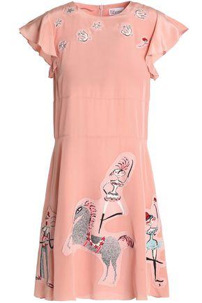 REDValentino Silk-crepe mini dress