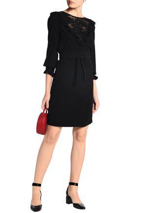 CLAUDIE PIERLOT Fil coupé-paneled crepe mini dress