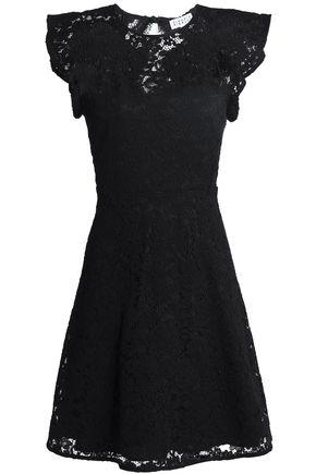 CLAUDIE PIERLOT Cutout cotton-blend corded lace mini dress