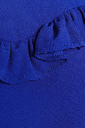 CLAUDIE PIERLOT Ruffle-trimmed crepe mini dress