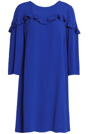 CLAUDIE PIERLOT Ruffle-trimmed crepe mini dress