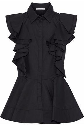 ANTONIO BERARDI Ruffled poplin peplum blouse