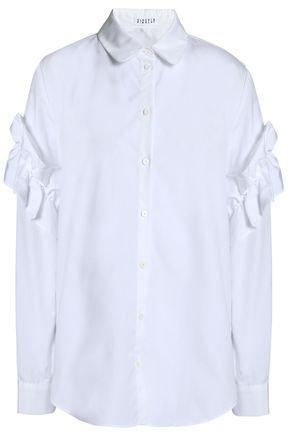 CLAUDIE PIERLOT Ruffle-trimmed cotton-poplin shirt