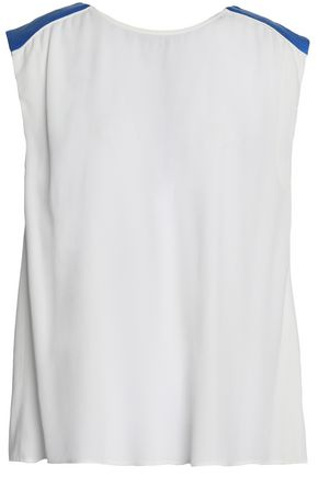 CLAUDIE PIERLOT Two-tone pleated crepe top