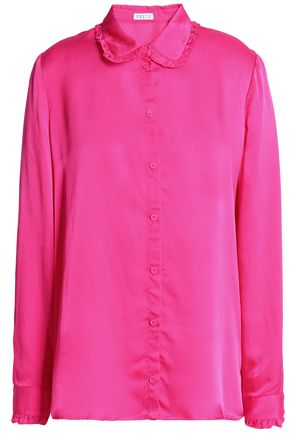 CLAUDIE PIERLOT Hammered-satin blouse