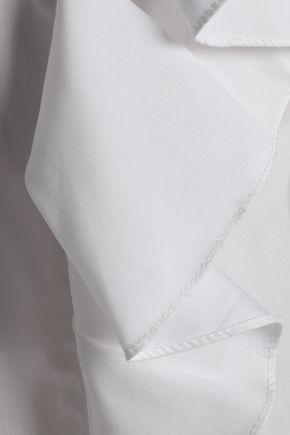 CLAUDIE PIERLOT Ruffled cotton-poplin shirt