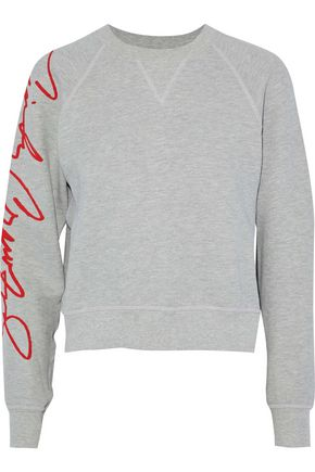 RE/DONE +Cindy Crawford Cindy printed French cotton-terry sweatshirt