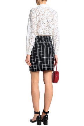 CLAUDIE PIERLOT Cotton-blend corded lace and jersey bodysuit