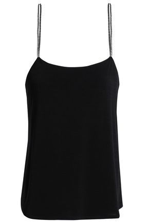 CLAUDIE PIERLOT Crystal-embellished jersey camisole
