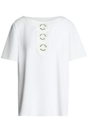 BOUTIQUE MOSCHINO Embellished crepe top