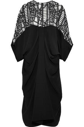 CHALAYAN Fil coupé-paneled gathered cady midi dress