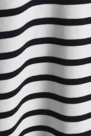 CLAUDIE PIERLOT Striped cotton-blend sweater