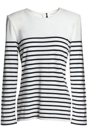 CLAUDIE PIERLOT Striped cotton-blend sweater