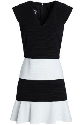 BOUTIQUE MOSCHINO Two-tone cotton-blend mini dress