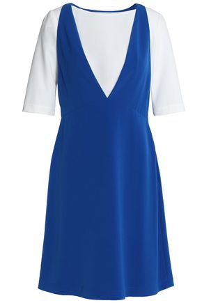 BOUTIQUE MOSCHINO Two-tone crepe mini dress