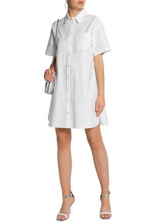 BOUTIQUE MOSCHINO Stretch cotton-poplin shirt dress