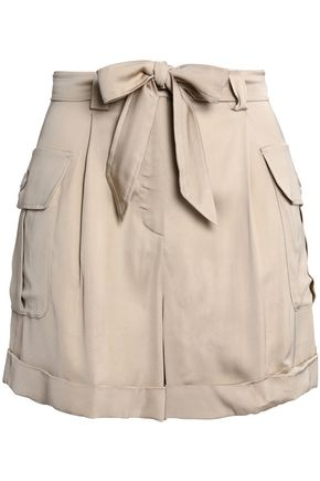 BOUTIQUE MOSCHINO Belted satin shorts